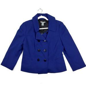 Ann Taylor Blue Double Breasted Blazer Jacket NWT